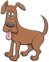 Zeichentrickhundefigur mit ausgestreckter Zunge vektor