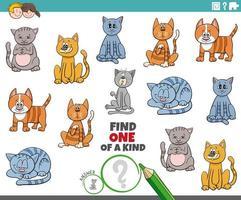 en unik uppgift för barn med katter vektor