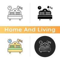 sovrum möbler ikon vektor