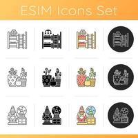 Wohnaccessoires Icons Set vektor