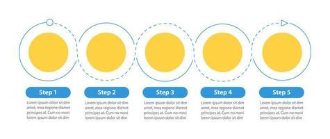 runde Flussdiagrammvektor-Infografikschablone