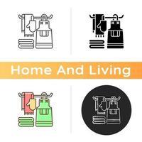 Küchenwäsche-Ikone vektor