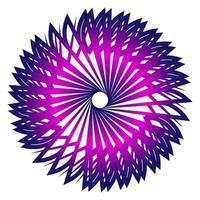 Stern Fraktal Rundschreiben mit lila Design vektor