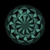Kreisverzierung in dunkelblauer Farbe gewickelt vektor