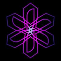 abstrakter Stern in lila Farbe vektor