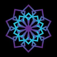 abstrakte Kreisverzierungslinien lila Farbe vektor