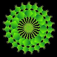 grüne fraktale Kreisverzierung vektor