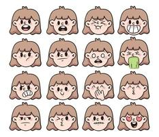 Cartoon verschiedene Art von Emotion Set niedlichen Cartoon Illustration