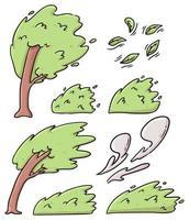Karikatur verschiedene Arten von Bäumen niedliche Karikaturillustration vektor
