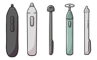 tecknad annorlunda typ av penna penna söt tecknad illustration vektor