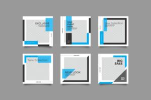 minimalistisk mode sociala medier banner vektor