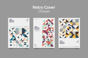 Retro minimalistische Cover-Vorlage vektor