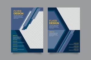 Business Flyer Design-Vorlage vektor
