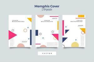 geometrisches Element des kreativen Memphis-Hintergrunds vektor