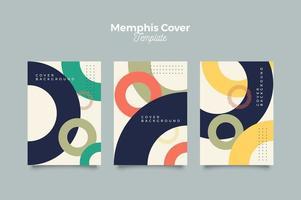 Memphis Kreis Abdeckung Design vektor