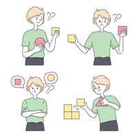 beslutsfattande att välja alternativ koncept söt illustration vektor