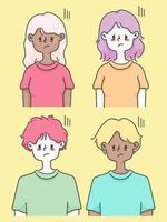 ett lågenergikoncept med söta människor illustration