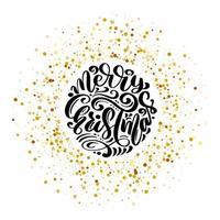 Frohe Weihnachten und frohes neues Jahr Vektortext kalligraphische Schriftzug Designkarte. kreative Typografie für Feiertagsgrußgeschenkplakat. Kalligraphie-Schriftart-Banner