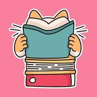 Katze Kätzchen glücklich zurück zu Schule Studie Zeichnung Illustration