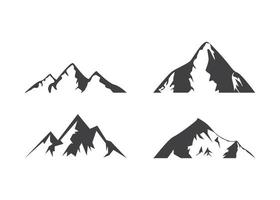 Bergikonen-Entwurfsschablonenvektor isolierte Illustration