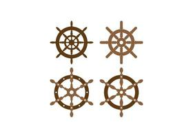 Steuerrad Icon Design Set