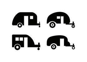camping trailer ikon designmall vektor isolerad