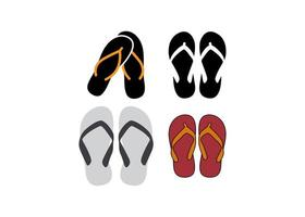 Flip Flop Icon Design Set