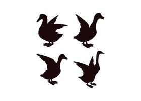 Enten-Icon-Design-Set vektor