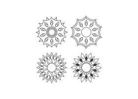 isolierte Illustration des Mandala-Symbolentwurfsschablonenvektors
