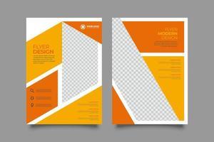 Modernes Unternehmensgeschäft A4 Flyer Poster Vorlage Broschüre Cover Design vektor