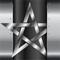 glänzender Stern Metallhintergrund vektor