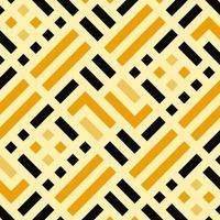 gelbes Schachbrett mit fettem Linienmuster vektor