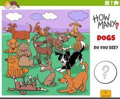 wie viele Hunde pädagogische Aufgabe für Kinder vektor