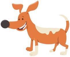 niedliche gepunktete Hunde- oder Welpenzeichentrickfilmfigur vektor
