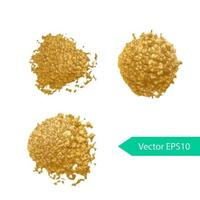 gyllene akryl penseldrag fläck vektor
