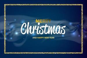 jul och gott nytt år bokeh vektor