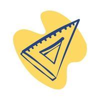Dreieck Lineal Linie Stil Symbol vektor