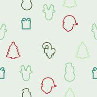 jul element ikon sömlösa mönster vektor