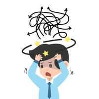förvirrad och frustrerad affärsman
