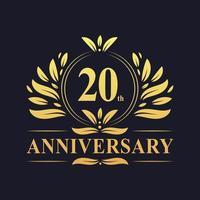 20-årsjubileumsdesign vektor
