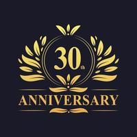 Design zum 30-jährigen Jubiläum vektor