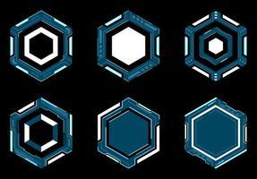 hexagon futuristisk ram hud. vektor
