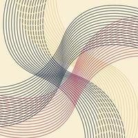 retro geometrisk linje konst mönster vektor, abstrakt retro bakgrundsmönster. vektor