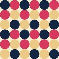 Retro geometrischer Mustervektor, abstraktes Retro-Hintergrundmuster. vektor