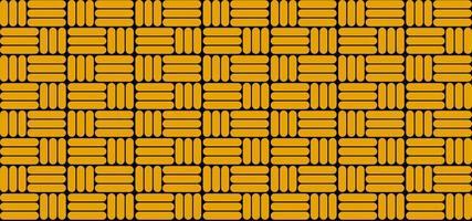abstraktes Muster des gelben Hintergrunds, mit ordentlich angeordneten Mustern, geeignet für Banner, Abdeckungen und Tapeten, Vektorillustrationen vektor