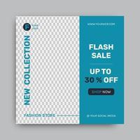 mode försäljning sociala medier post designmall vektor