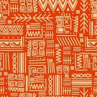 sömlös vektor stamstrukturuppsättning. etniska motiv grupperar smidig konsistens. vintage etnisk sömlös bakgrund.