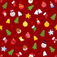 julgran prydnad sömlösa mönster