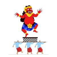 böse Riesengeist Statue Parade in Bali vektor