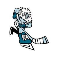 yeti ishockeyspelare maskot